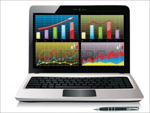 17754611-Ноутбук-показывает-таблицу-с-некоторыми-графиками