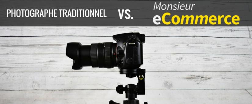La différence entre un photographe traditionnel et Monsieur eCommerce