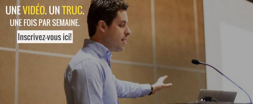 Recevez un truc de marketing numérique et de eCommerce par semaine!