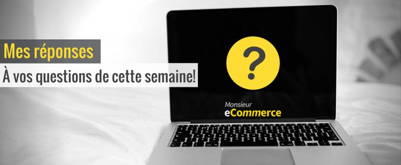 Mes réponses à vos questions sur le commerce électronique Vol. 2!